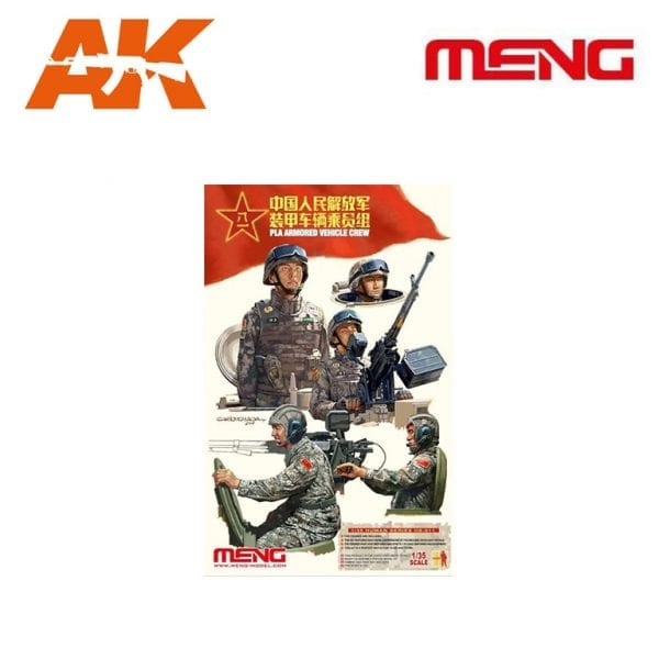 MM HS-011 pla armored vehicle crew meng ak-interactive