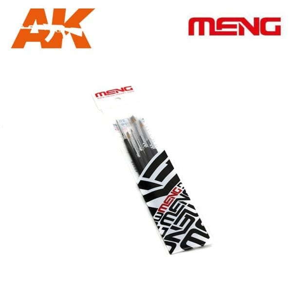 MM MTS-010 PAINT BRUSH SET MENG AK-INTERACTIVE