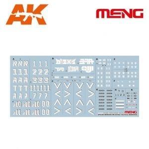 MM SPS-003 MERKAVA MK.3D/BAZ TACTICAL MARKINGS MENG AK-INTERACTIVE