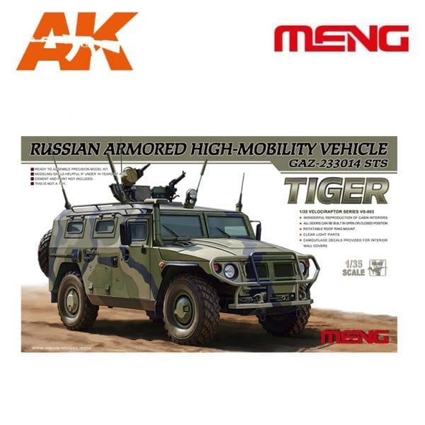 MM VS-003 1/35 Russian Armored High-Mobility Vehicle AK-INTERACTIVE MENG