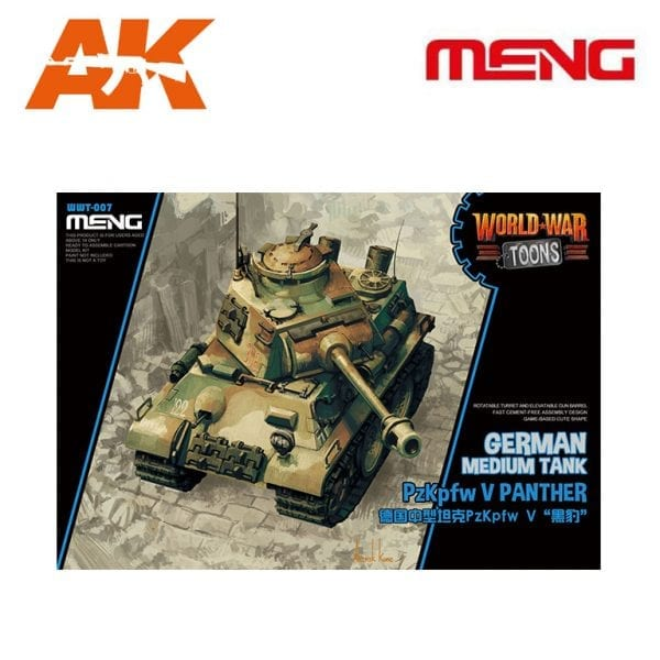 MM WWT-007 German Medium Tank PzKpfw V Panther AK-INTERACTIVE MENG
