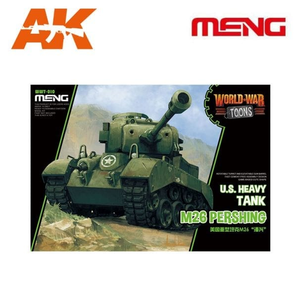 MM WWT-010 U.S. Heavy Tank M26 Pershing AK-INTERACTIVE MENG