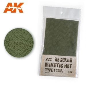 AK-INTERACTIVE CAMOUFLAGE NET FIELD GREEN TYPE 1 AK8066