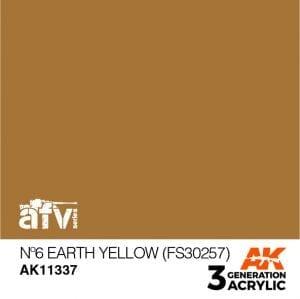 AK11337 Nº6 EARTH YELLOW (FS30257)