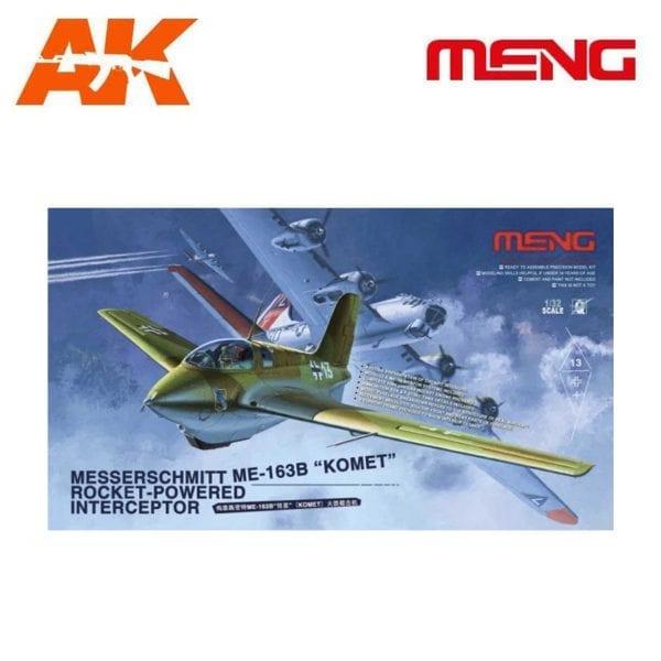 """MM QS-001 1/32 Messerschmitt Me163B """"Komet"""" AK-INTERACTIVE MENG"""