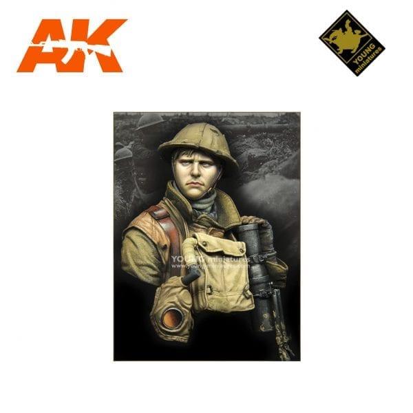 YM YM1875 British LEWIS Gunner WWI