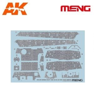 MM SPS-039 AK-INTERACTIVE MENG GERMAN HEAVY TANK SD.KFZ.182 KING TIGER ZIMMERIT