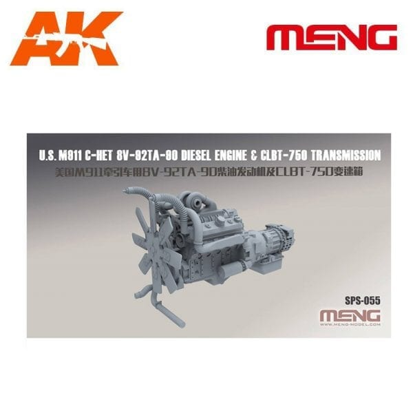 MM SPS-055 AK-INTERACTIVE MENG US.M811 C-HET 8V-82TA-80 DIESEL ENGINE & CLBT-750TRANSMISSION