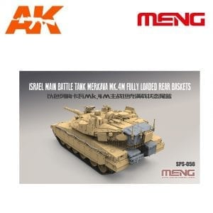 MM SPS-056 AK-INTERACTIVE MENG ISRAEL MAIN TANK MERKAVA MK.4M FULLY LOADED REAR BASKETS