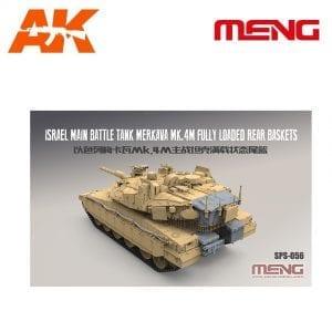 MM SPS-056 AK-INTERACTIVE MENG ISRAEL MAIN TANK MERKAVA MK.4M FULLY LOADED REAR BASKETS