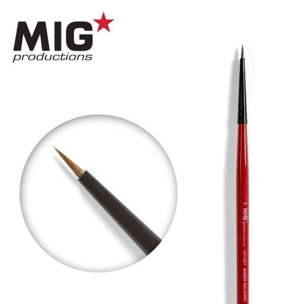 MP1007 7-0 round brush marta kolinsky migprodutions ak-interactive