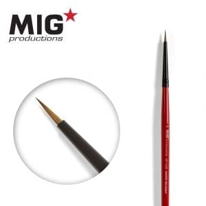 MP1008 6-0 round brush marta kolinsky migprodutions ak-interactive