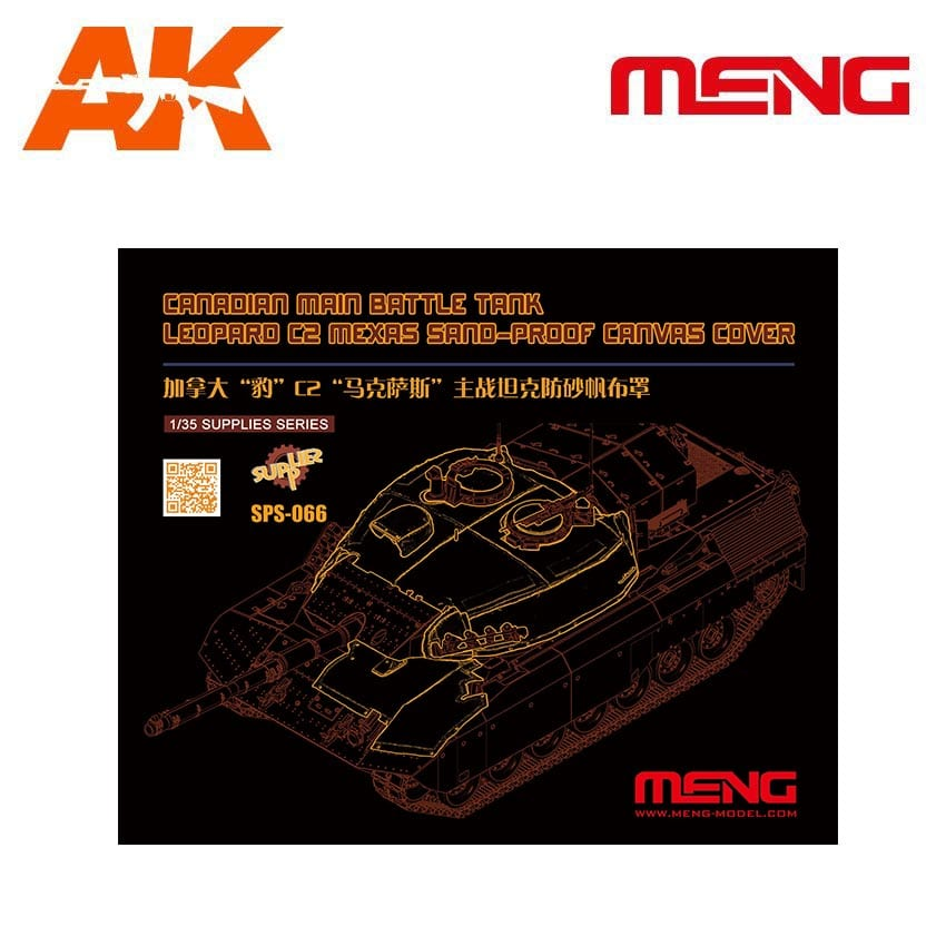 Sand Proof Canvas Cover Meng SPS-066 Leopard C2 Mexas 1:35