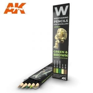 AK10040 weathering pencils