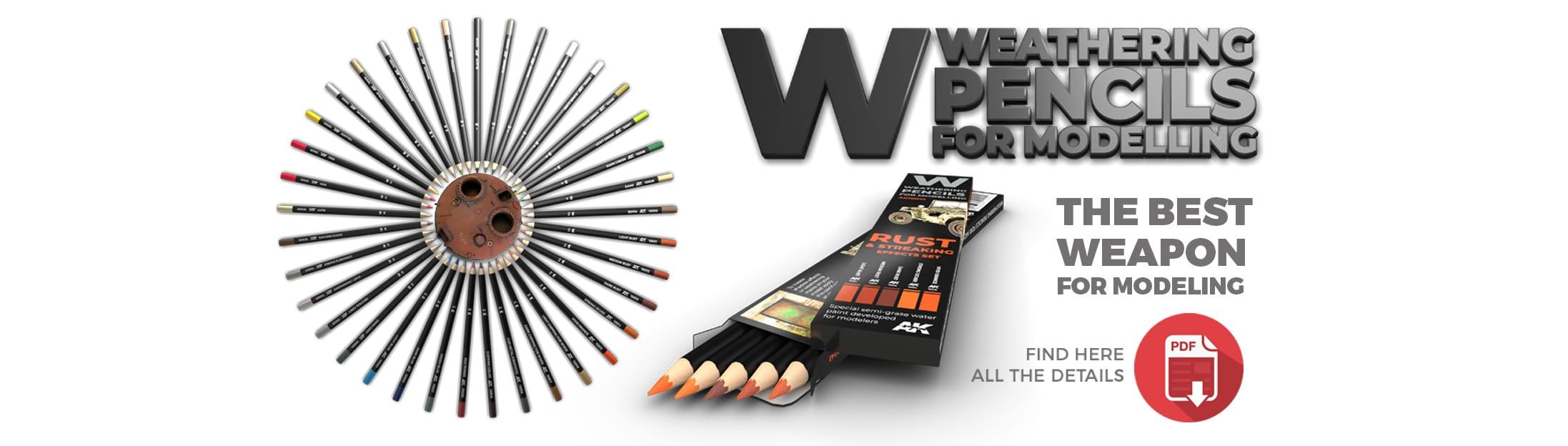 akinteractive weathering pencils campaign set single deluxe