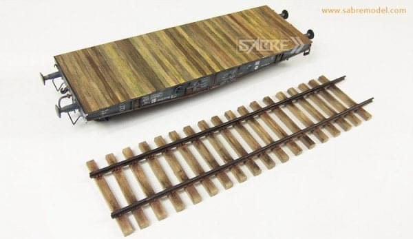 35A02 sabre akinteractive railway wagon train model plastic scale