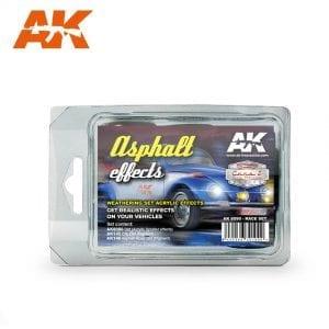 AK8090 asphalt effects acrylic effects weathering set akinteractive
