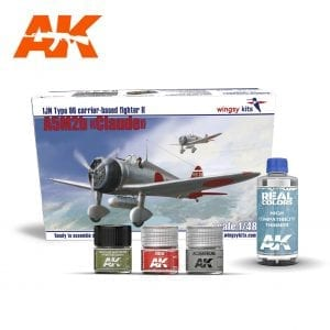 AKPACK19 WINGSKY KIT REAL COLORS AIRCRAFT AKINTERACTIVE THINNER LACQUER ACRYLIC