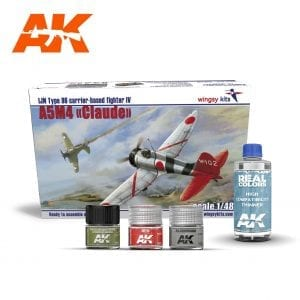 AKPACK20 WINGSY KIT REAL COLORS AIRCRAFT AKINTERACTIVE THINNER LACQUER ACRYLIC