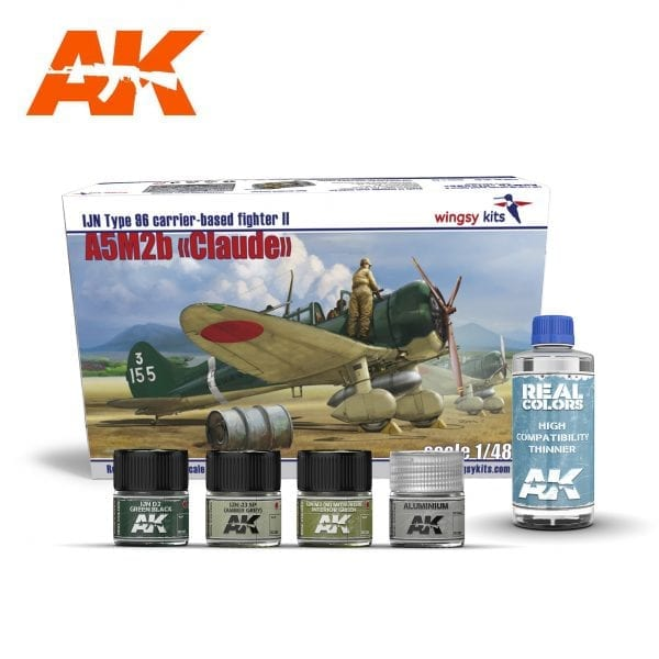 AKPACK21 WINGSY KIT REAL COLORS AIRCRAFT AKINTERACTIVE THINNER LACQUER ACRYLIC