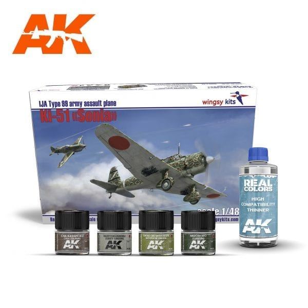 AKPACK22 WINGSY KIT REAL COLORS AIRCRAFT AKINTERACTIVE THINNER LACQUER ACRYLIC