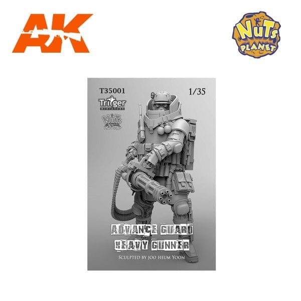 NP T35001 nuts planet akinteractive advance guard heavy gunner 1/35 scale
