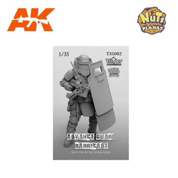 NP T35002 nuts planet akinteractive resin 1/35 advance guard barricade