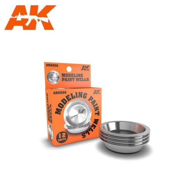 AK8206 modelling paint wells modelling acrylic paint enamel lacquer real colors air afv figures series weathering stainless steel ak-interactive