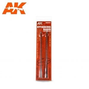 AK8207 stirring bars modelling acrylic paint enamel lacquer real colors air afv figures series weathering stainless steel ak-interactive