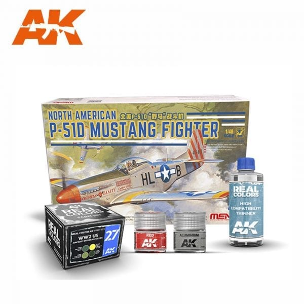 AKPACK24 MENG AKINTERACTIVE REAL COLORS AIRCRAFT THINNER SET PAINT ACRYLIC LACQUER PLASTIC