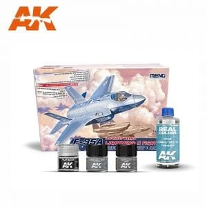 AKPACK25 MENG AKINTERACTIVE REAL COLORS AIRCRAFT THINNER SET PAINT ACRYLIC LACQUER PLASTIC