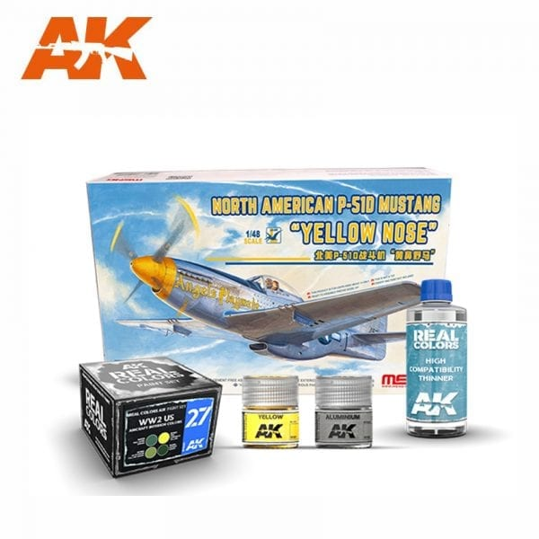 AKPACK26 MENG AKINTERACTIVE REAL COLORS AIRCRAFT THINNER SET PAINT ACRYLIC LACQUER PLASTIC