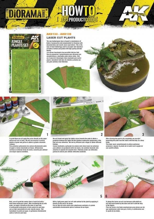 AK8134 fern dioramas akinteractive howto