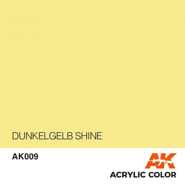 AK009 DUNKELGELB SHINE