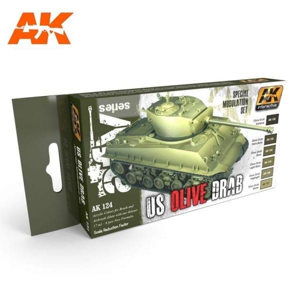 AK131 acrylic paint set akinteractive modeling