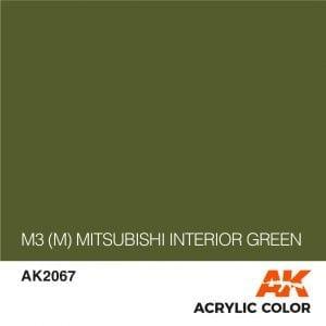 AK2067 M3 (M) MITSUBISHI INTERIOR GREEN