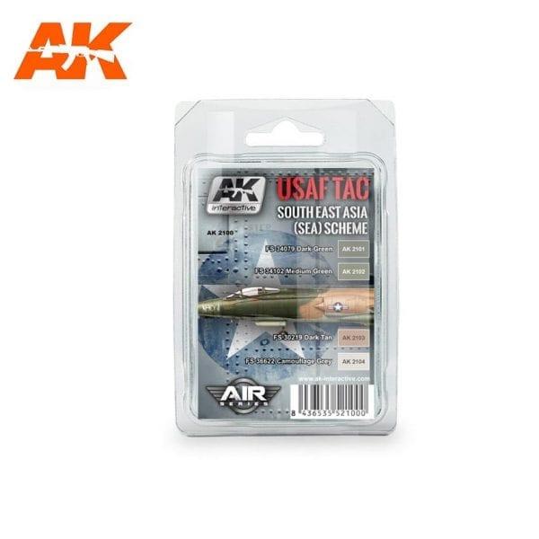 AK2100 acrylic paint set akinteractive modeling