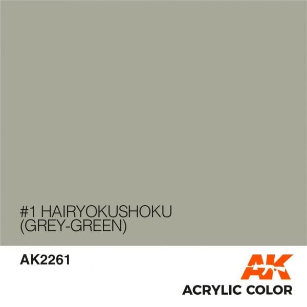 AK2261 #1 HAIRYOKUSHOKU (GREY-GREEN)