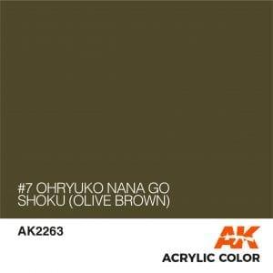AK2263 #7 OHRYUKO NANA GO SHOKU (OLIVE BROWN)
