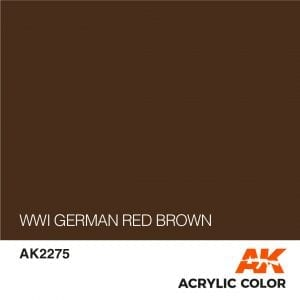 AK2275 WWI GERMAN RED BROWN