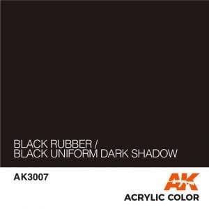 AK3007 BLACK RUBBER