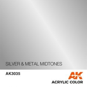 AK3035 SILVER & METAL MIDTONES