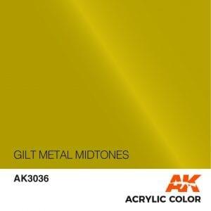 AK3036 GILT METAL MIDTONES