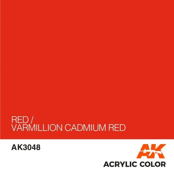 AK3048 RED-VARMILLION CADMIUM RED