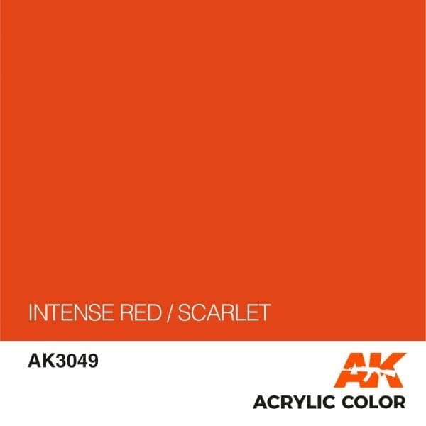 AK3049 INTENSE RED-SCARLET