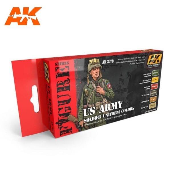 AK3070 acrylic paint set akinteractive modeling