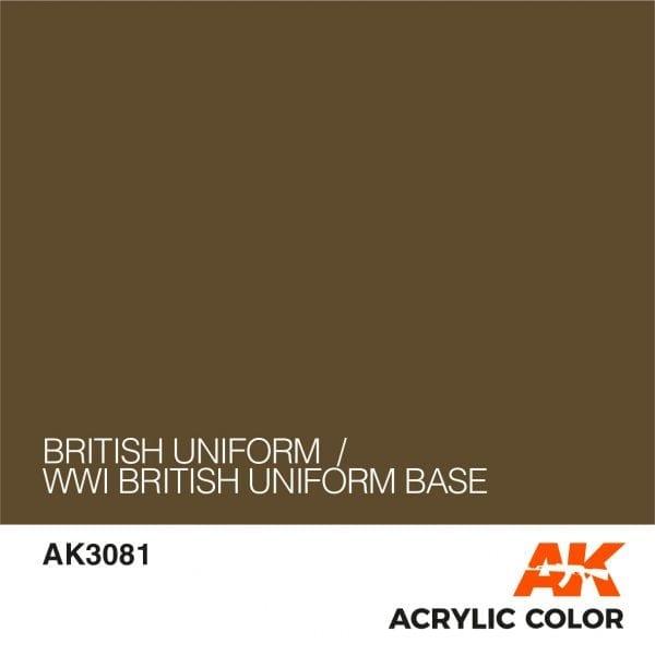 AK3081 BRITISH UNIFORM