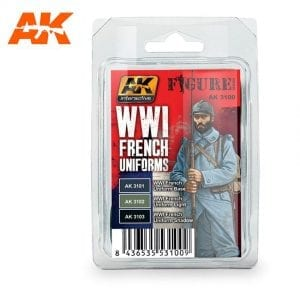 AK3100 acrylic paint set akinteractive modeling