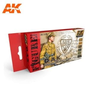 AK3110 acrylic paint set akinteractive modeling