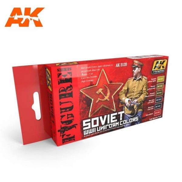 AK3120 acrylic paint set akinteractive modeling